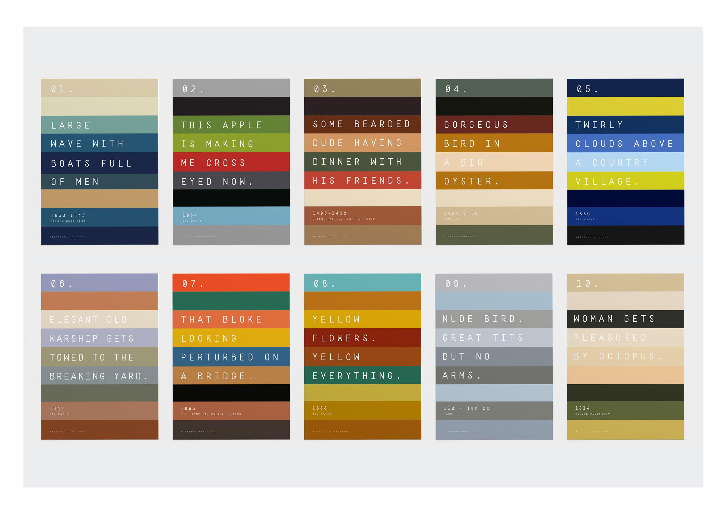 Artist Colour bars