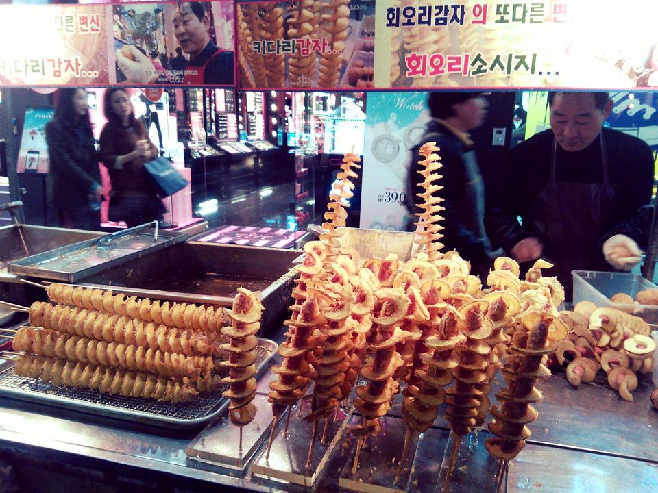 The famous Tornado Potato in Myeongdong