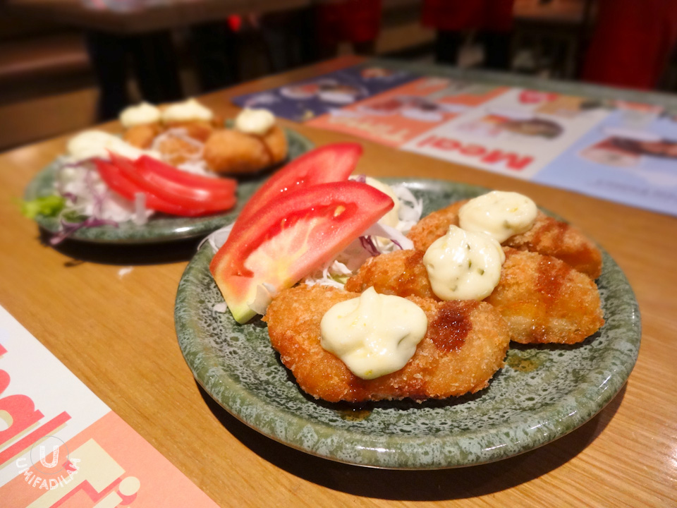 Ebi Yose.  Basically shrimp nuggets, but a much tastier version and from the looks on the inside, uses densed shrimp chunks. Topped with TenTen signature mayonnaise & sweet brown sauce, this made a perfect appetizer.