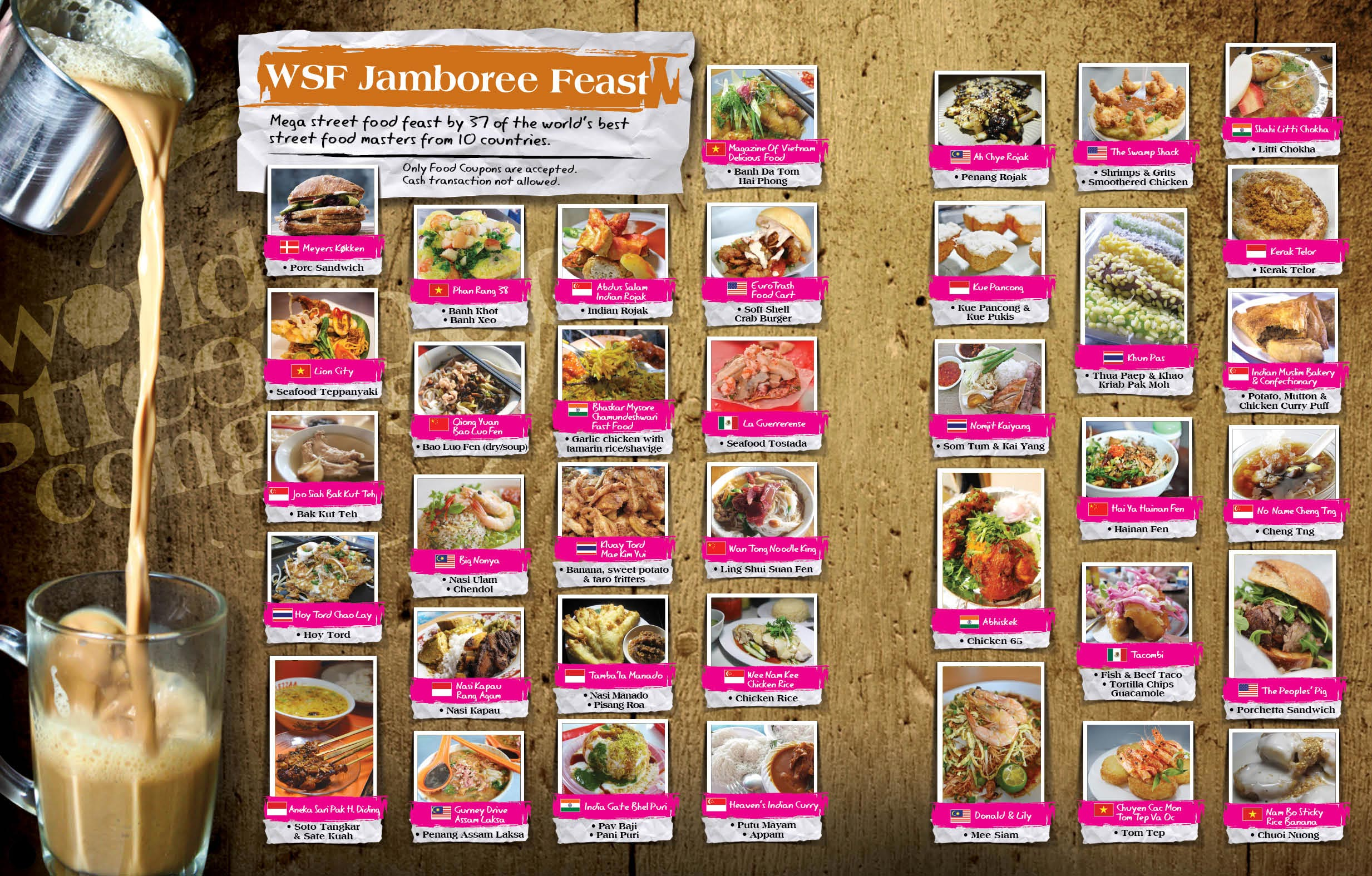 37 street-food stalls. 10 countries. Can't hardly wait.