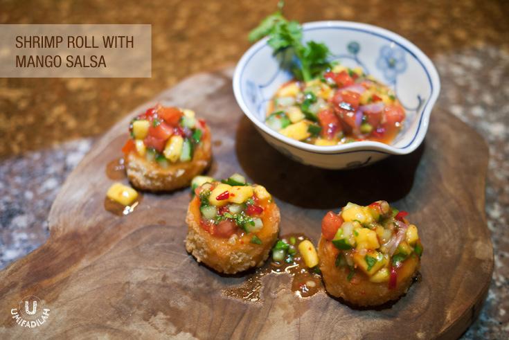 Shrimp Roll with Mango salsa.