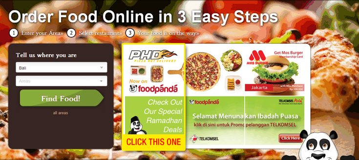 Go to  http://www.foodpanda.co.id/  and click on the PHD banner right in front of the homepage.