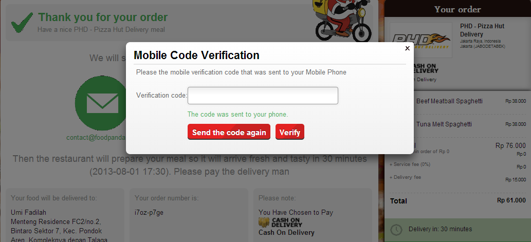 You will receive a mobile verification code sent directly to your phone. Enter that to confirm your registration, and you're DONE!  PS: In my case yesterday this didn't work, but surprisingly their Customer Service emailed me directly asking if there was any problem. Long story short, if any problem occurred, they'd be more than glad to help you... BLAZING FAST! I'm a happy customer.