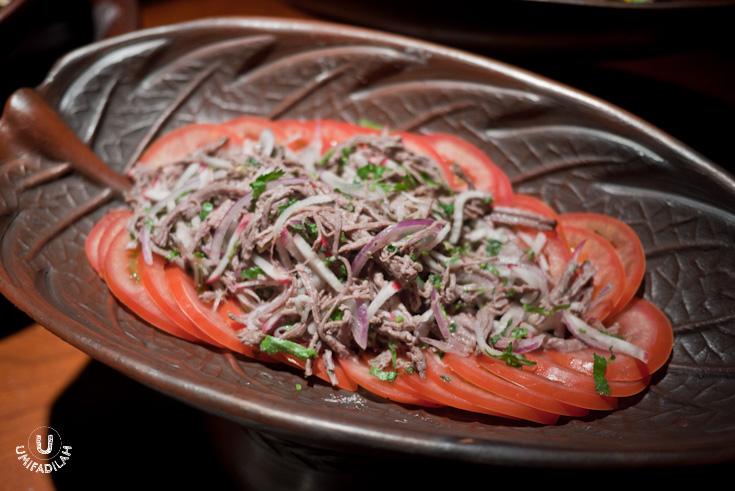 Pulled Venison meat salad  (Salpicon de Venado)