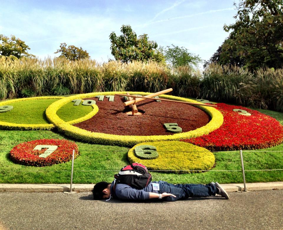 At  Horloge fleurie de Genève  , Switzerland