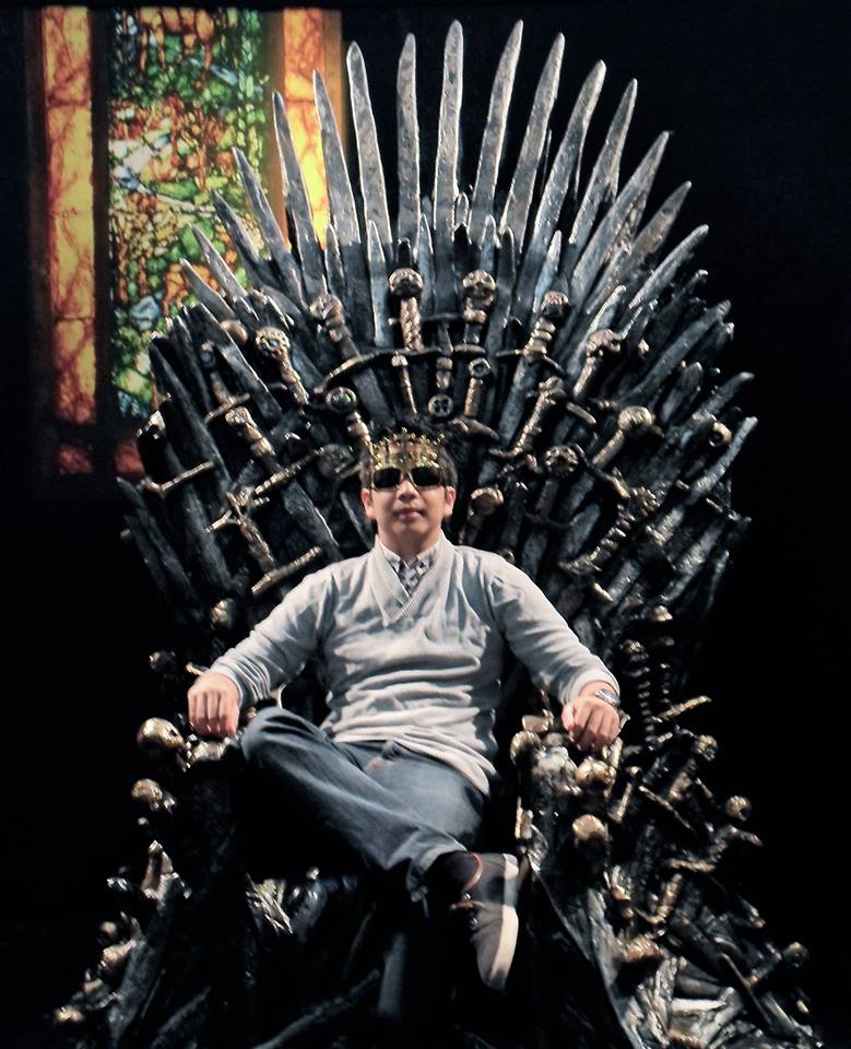 Sorry, I could not help myself. This picture of him sitting on an IRON THRONE is just too epic, LOL.