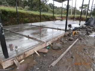 Cement Pour at Casa de Fe