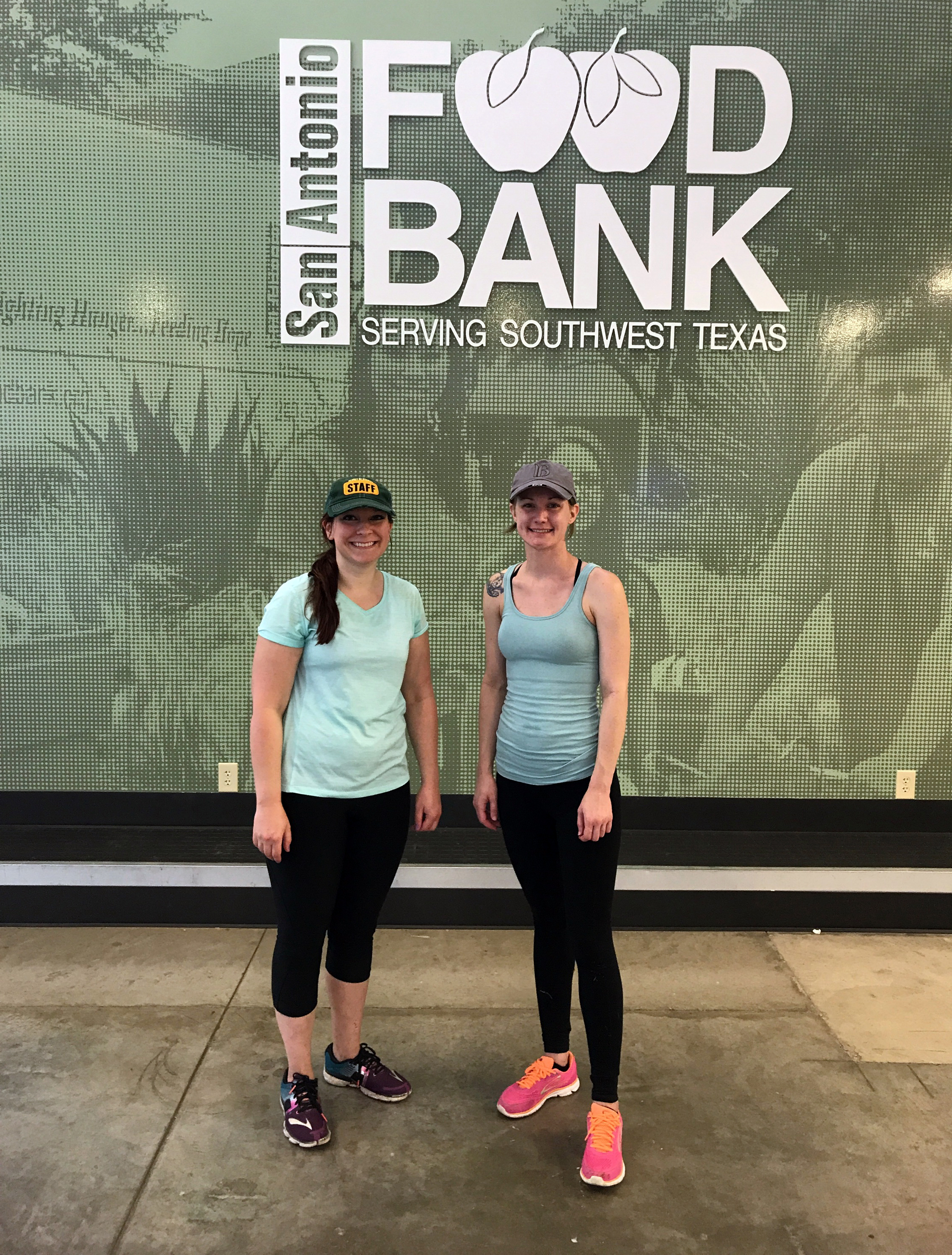 Emily (left) and Elise (right) after a hard days work at the SA Food Bank orchard.
