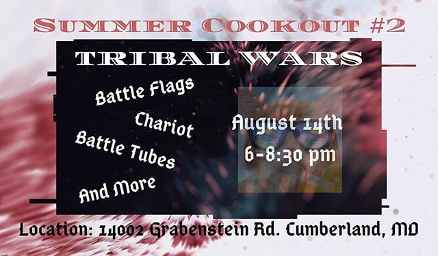 """Tonight!! Grab your """"ONE"""" and be there. Winning tribe goes home with some actually not bad prizes!!! #strivesm #summercookout2 #tribalwarsstrivesm #whosyour1"""