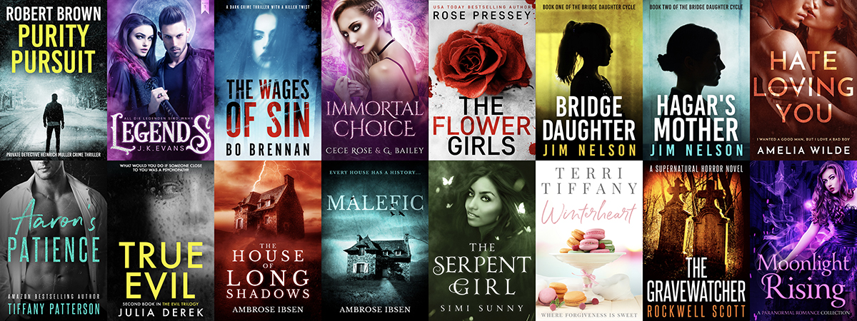 RECENTLY COMPLETED PREMADE EBOOK COVER DESIGNS
