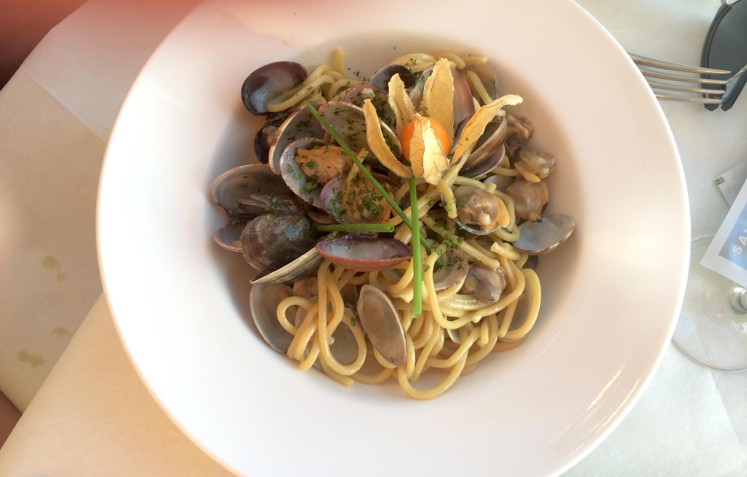 Elias' clam pasta