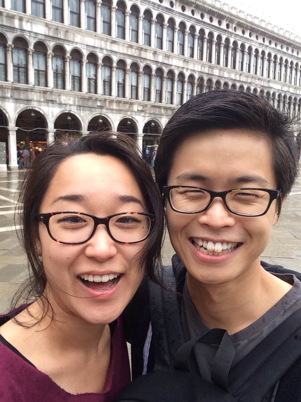 This was when we passed St.Mark Square on our way to the hotel, inwet clothes.