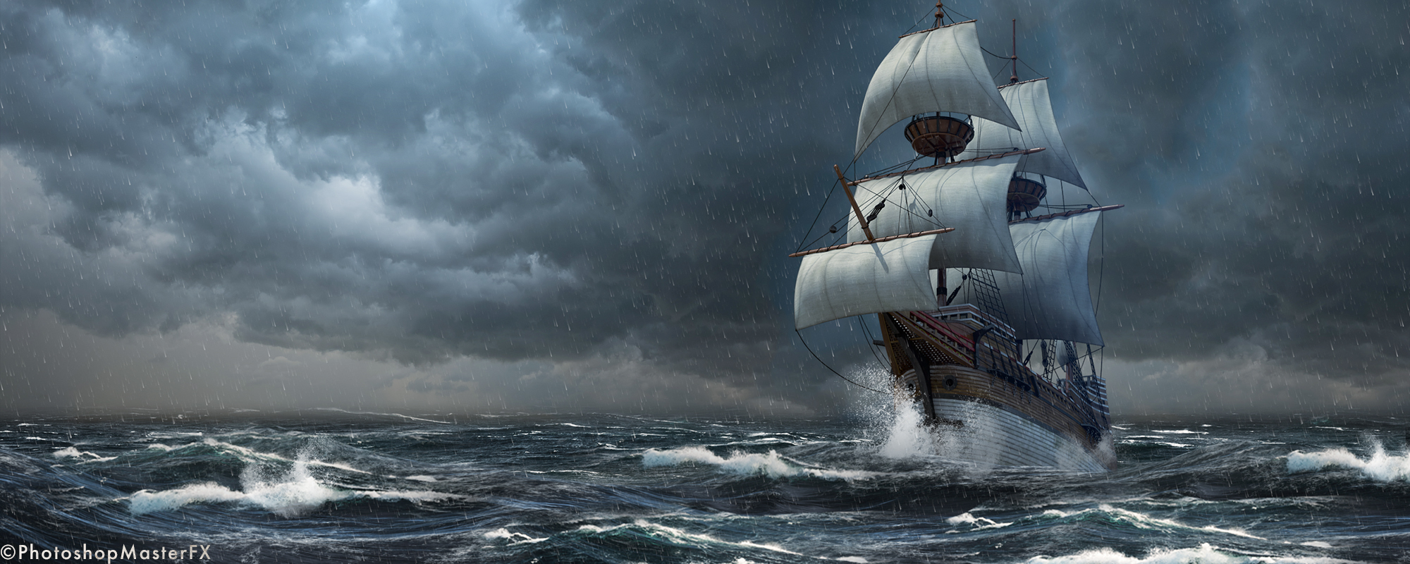 3D Compositing: Ship at Sea