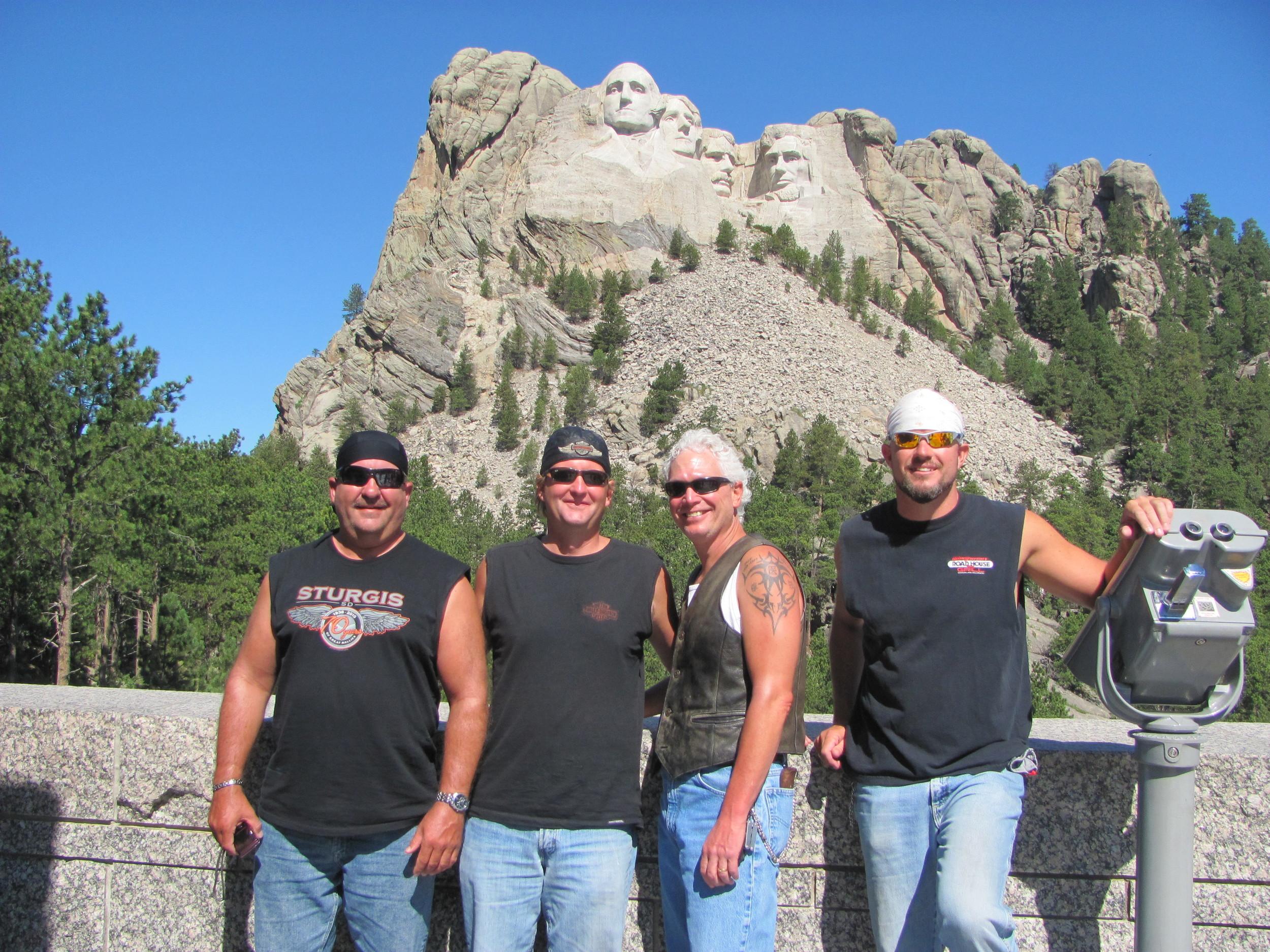 Riding to Mount Rushmore