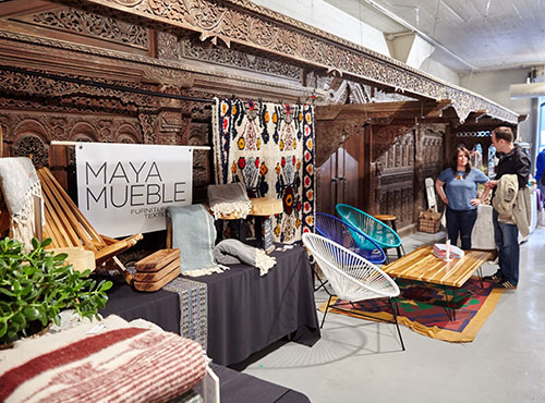 Vendor,   Maya Mueble  's amazing booth display at our 2015 Spring Show