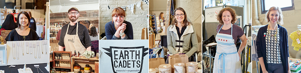 Show of Hands Holiday 2016 Vendors (from left to right):  Tytin Jewelry  //  Real.Soaps  //  Earth Cadets  //  Nicolet Candle Co.  //  Made by Cat Painter  //  Lilla Barn Clothing