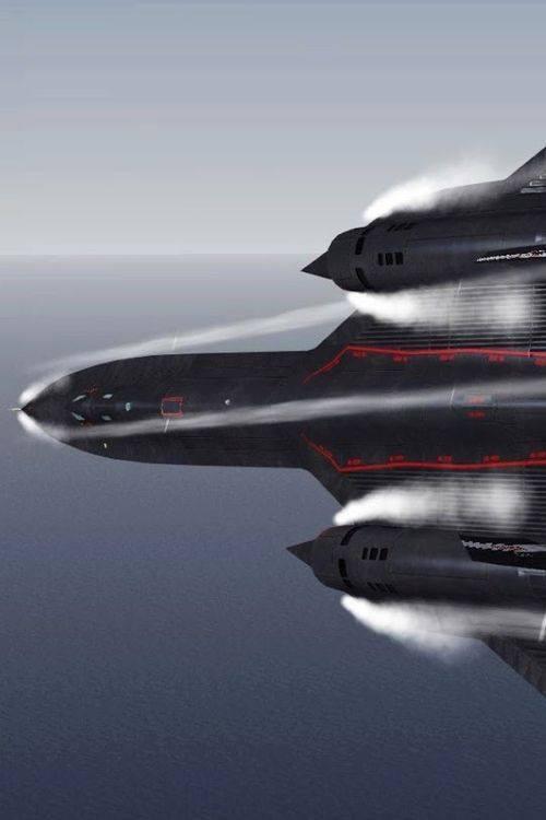 Vapor cloud forms around an SR-71 Blackbird near Mach 1 (which is still first gear for a Blackbird)