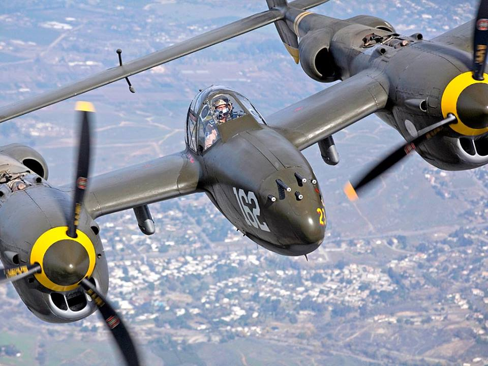 Lightning in a cloudless sky (P-38 Lightning)