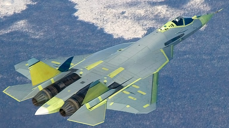 The Sukhoi T-50, now available in lime
