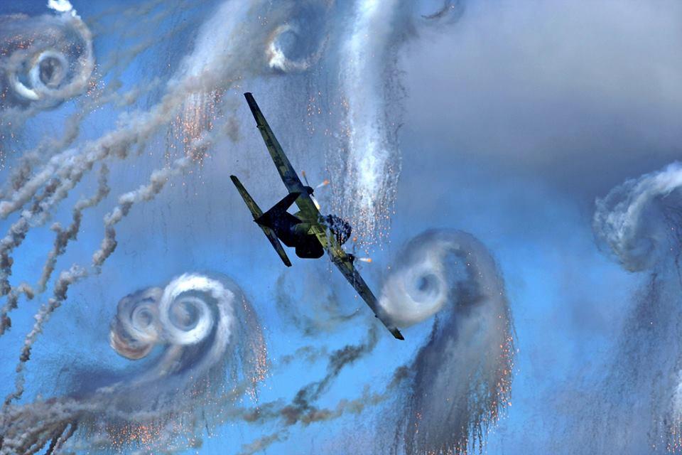 """Starry Night"" by a Transall C-160 (medium: flares)"