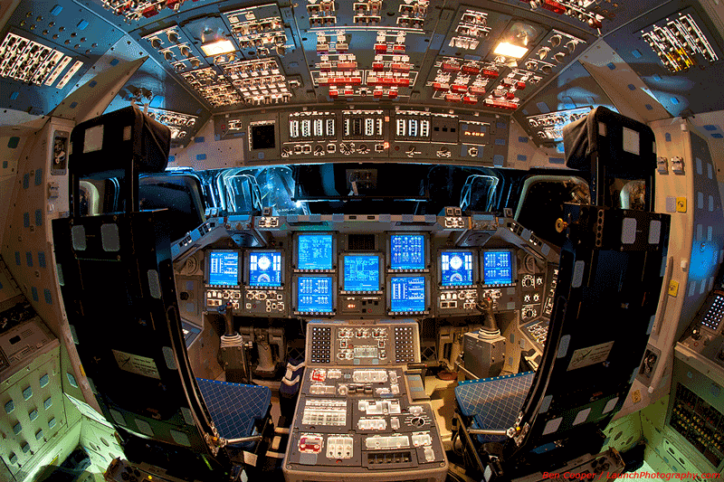 Space shuttle Endeavour (built 1982) controls: all but the seats and windows can now been replaced by one app