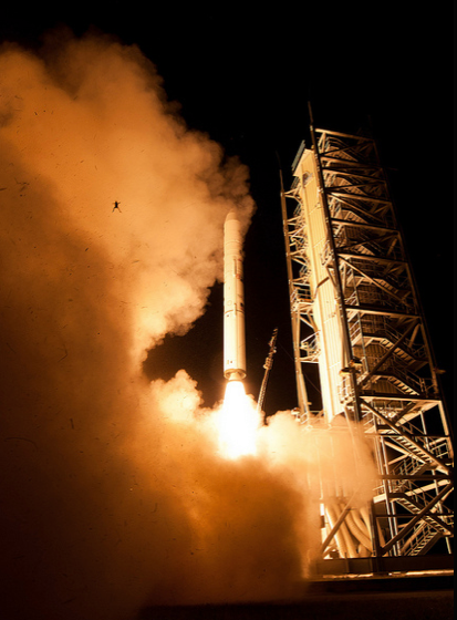 FROG PHOTOBOMBS NASA LAUNCH: Check out the airborne frog in this LADEE spacecraft lift-off photo released by NASA