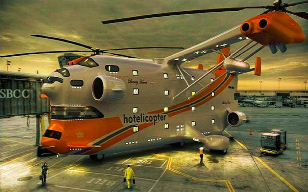 The Hotelicopter. Just a concept. Here's hoping...