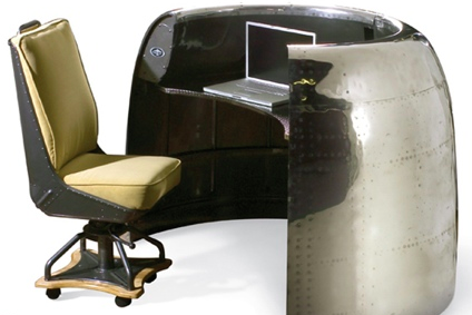 For your interior, there's a lot of furniture out there made from old plane parts.