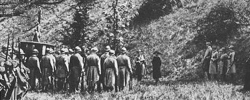 Mata Hari's execution by firing squad, October 15, 1917