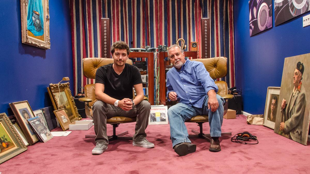 John Grado and Jonathan Grado in the Listening Room