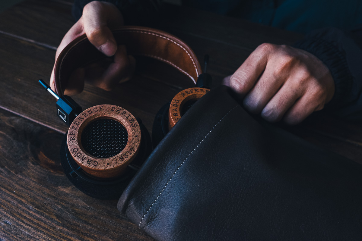 Grado RS1e with This Is Ground Leather Tomo