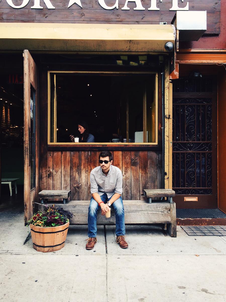 Jonathan Grado at Colander Cafe
