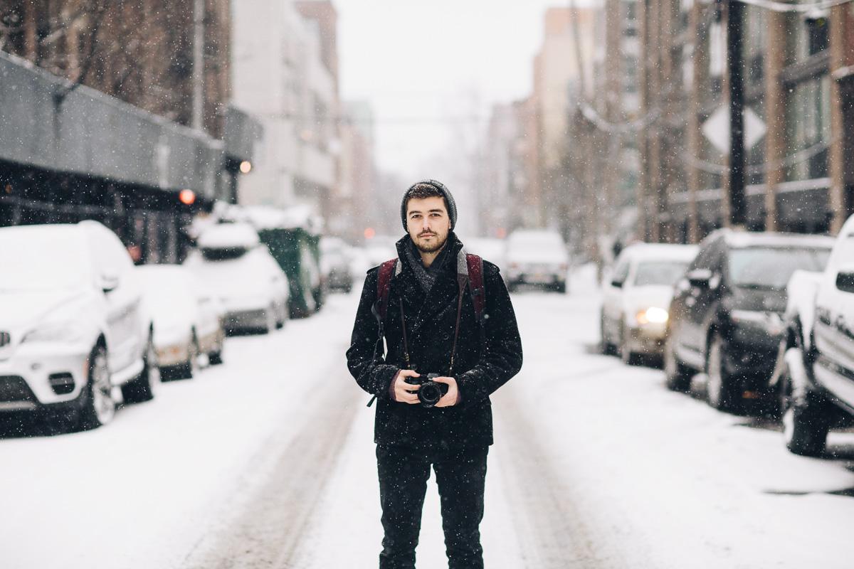 Jonathan Grado in Williamsburg Snow