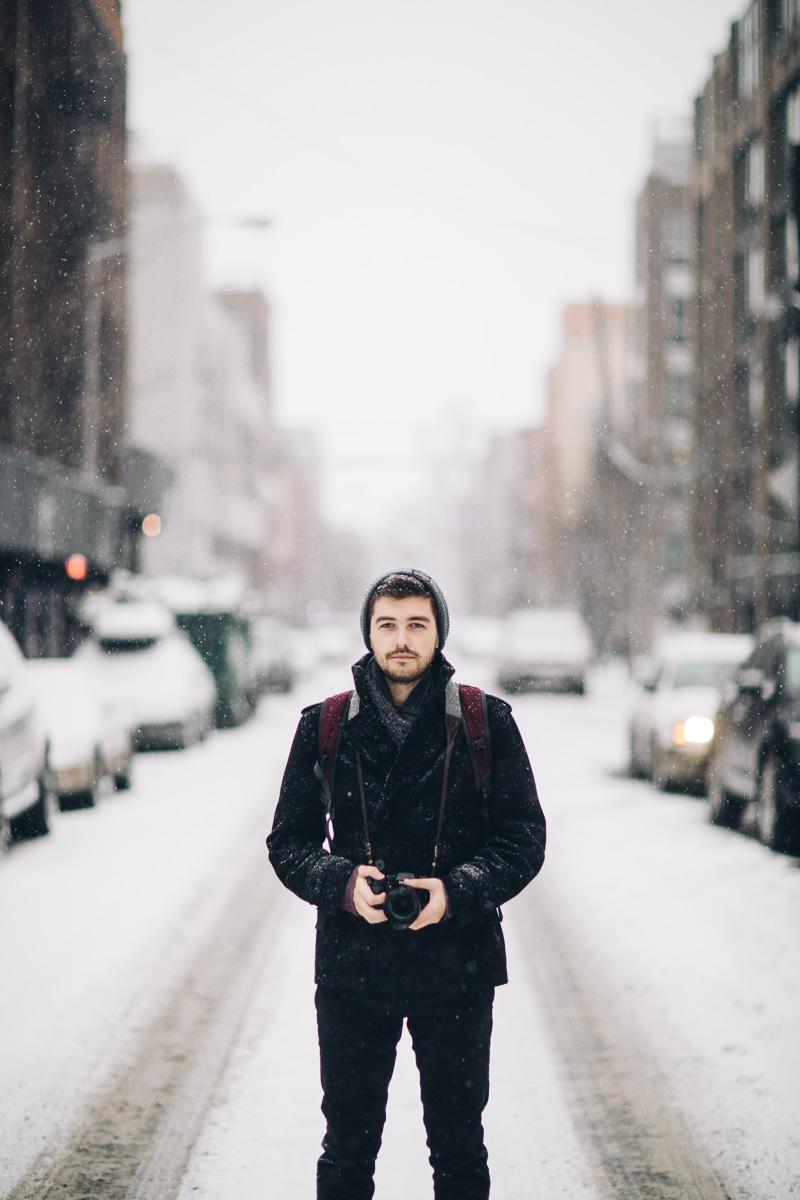 Copy of Jonathan Grado in Williamsburg Snow
