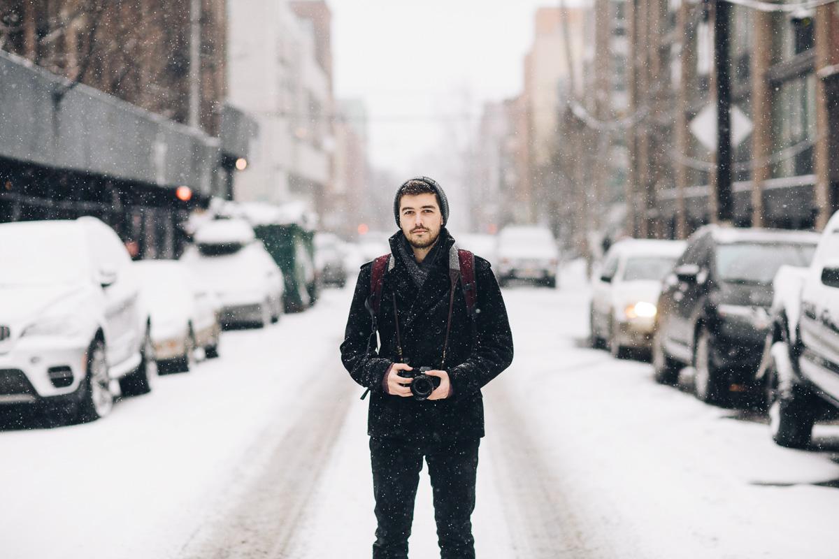 Copy of Jonathan Grado in Williamsburg Snow