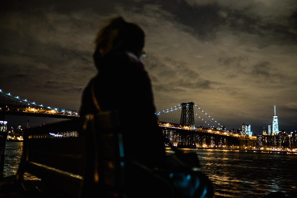 Tia Meyers Williamsburg Bridge at Night