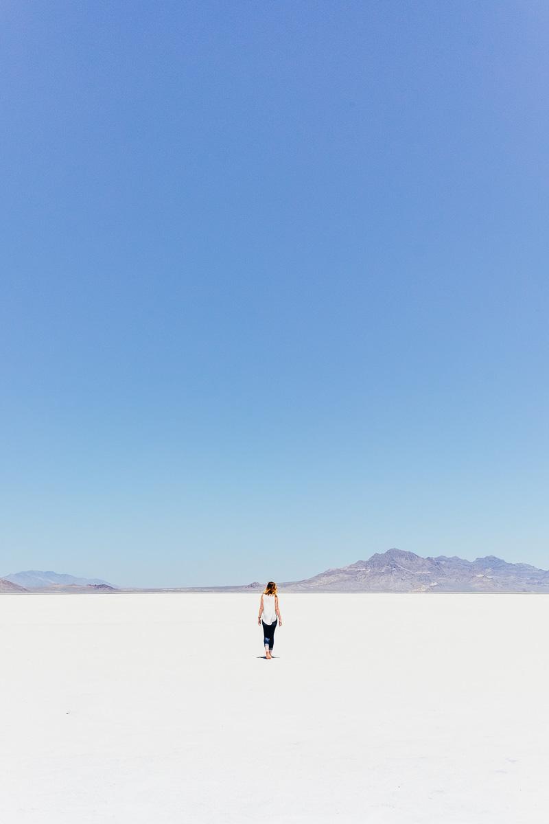 Tia Meyers at Bonneville Salt Flats