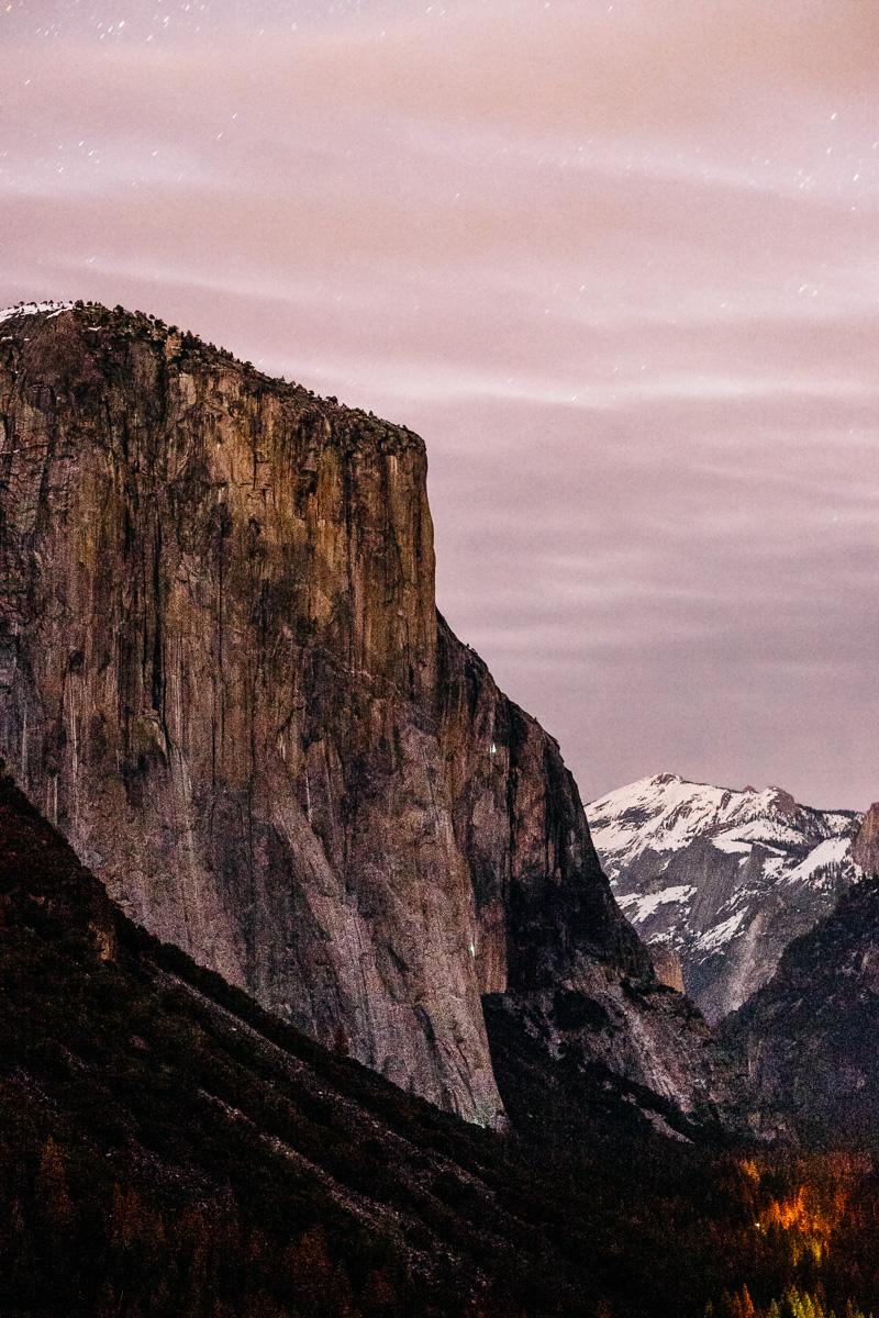 Yosemite Tunnel View at Night