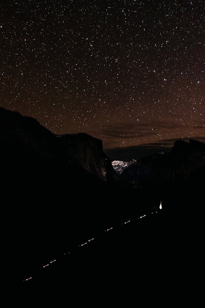 Yosemite Tunnel View at Night