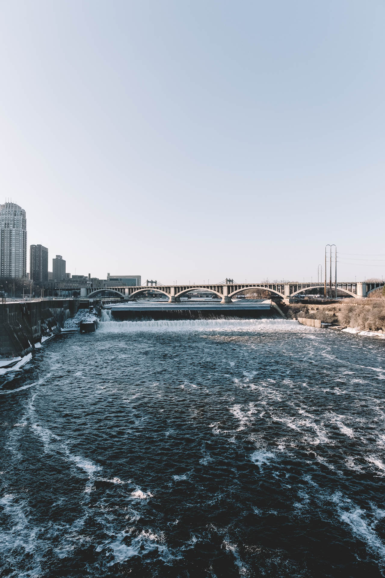 Minneapolis View from Stone Arch Bridge