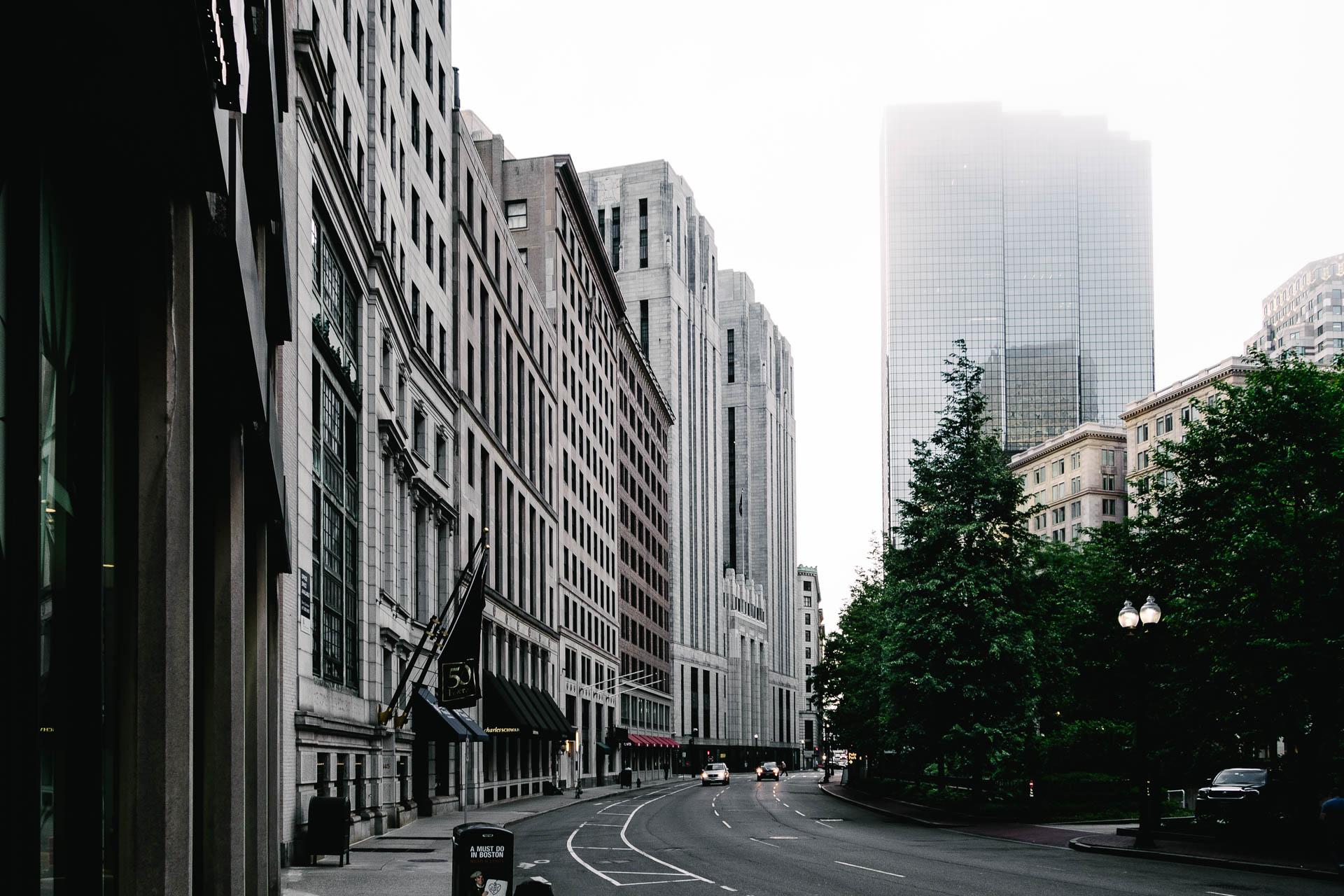 Boston Street in Fog