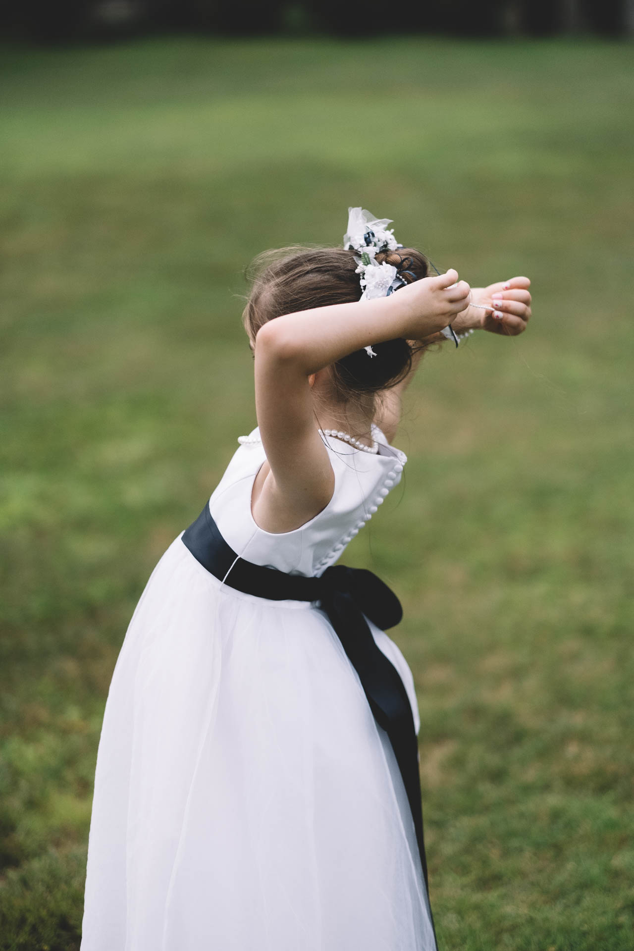 Flower Girl in White Dress