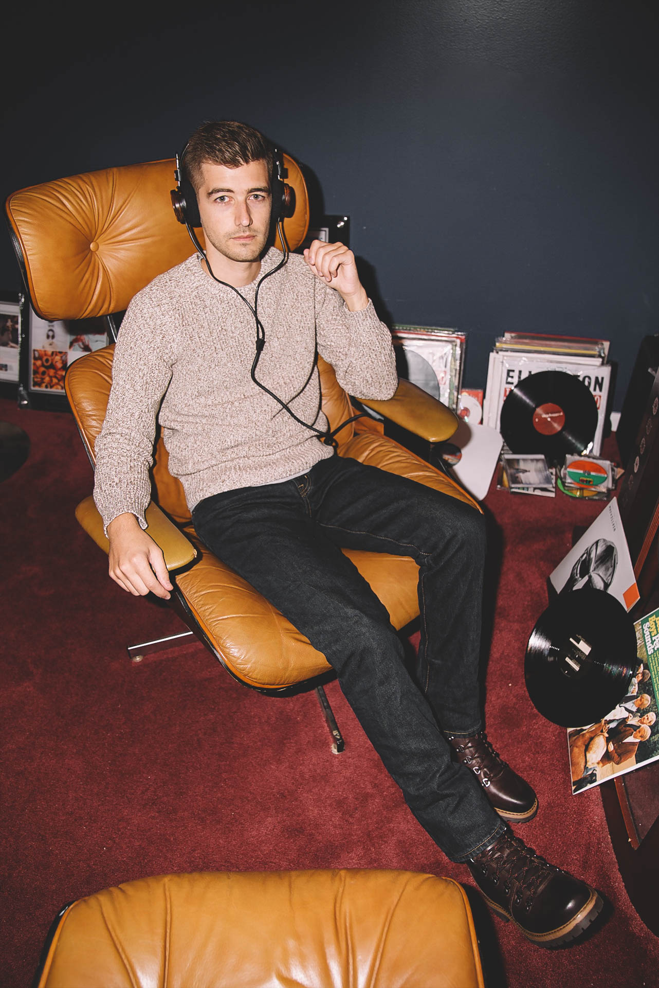Jonathan Grado in Eames Chair For Lands End