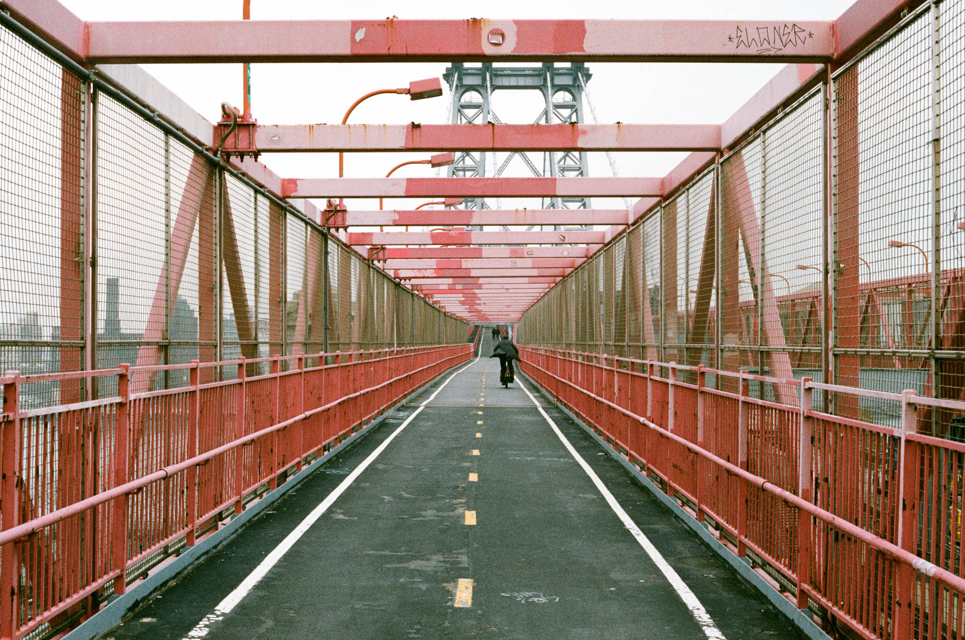 Walking Over the Williamsburg Bridge