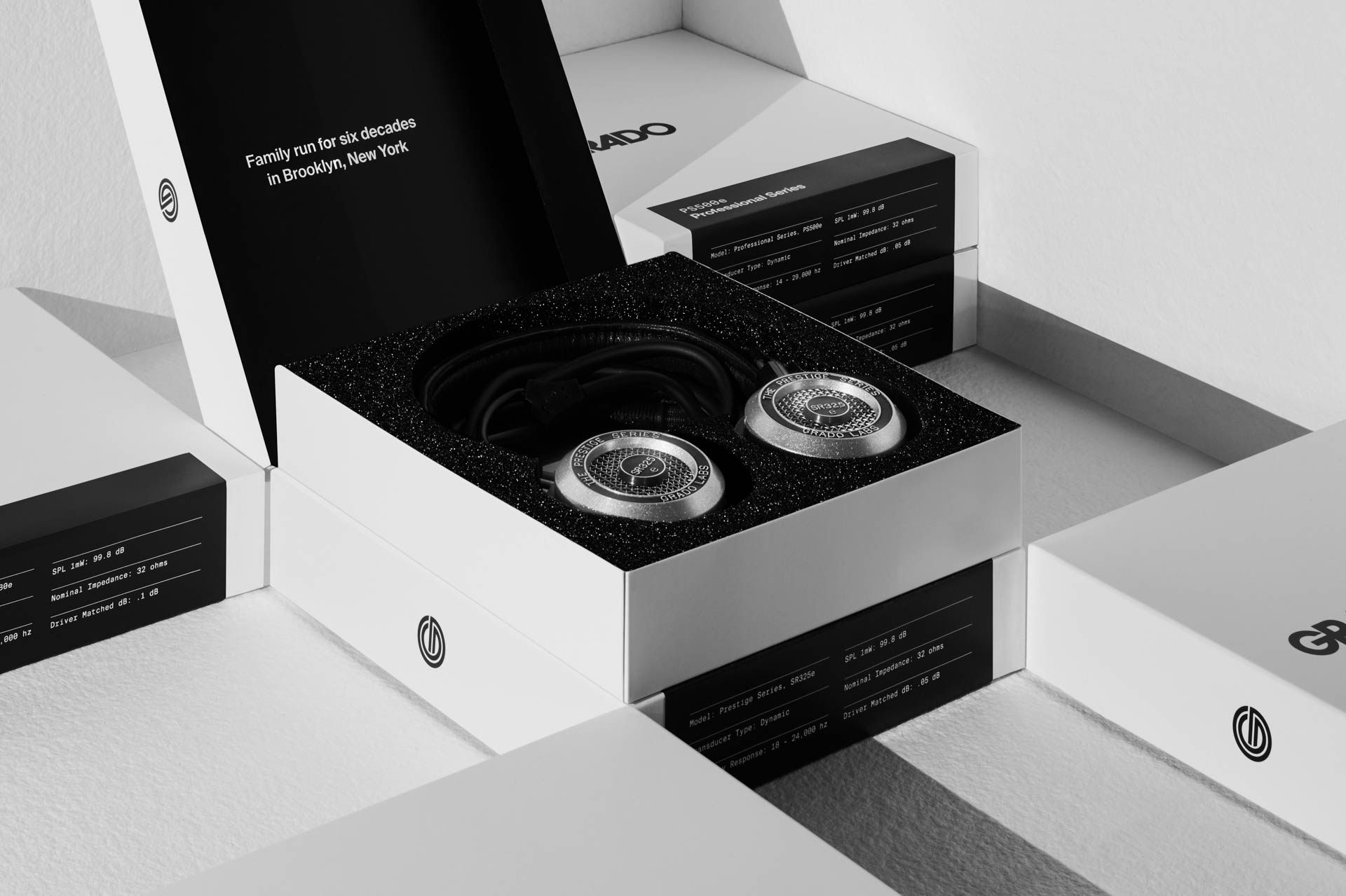Grado Labs Brand and Packaging by High Tide NYC Headphone Box