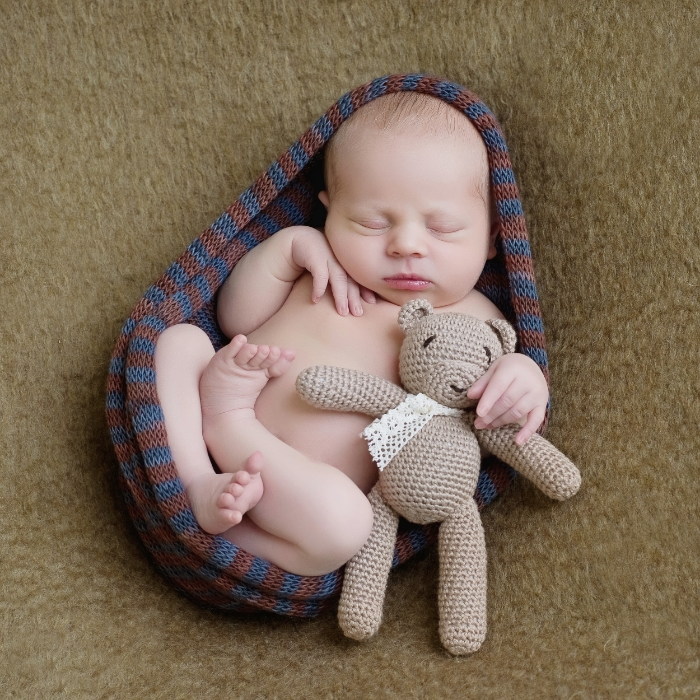 sweet newborn portrait of baby boy