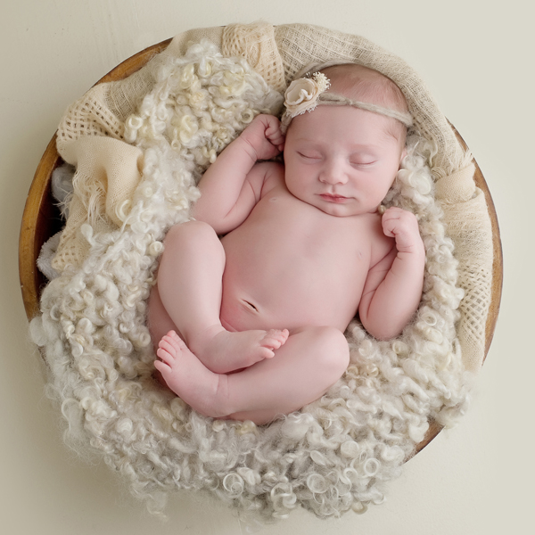 natural textural newborn portrait in western ma