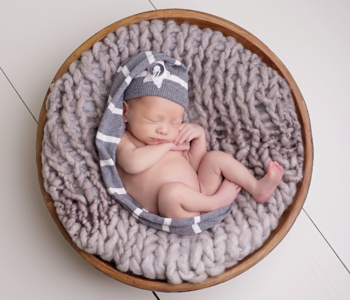 simple props newborn photography