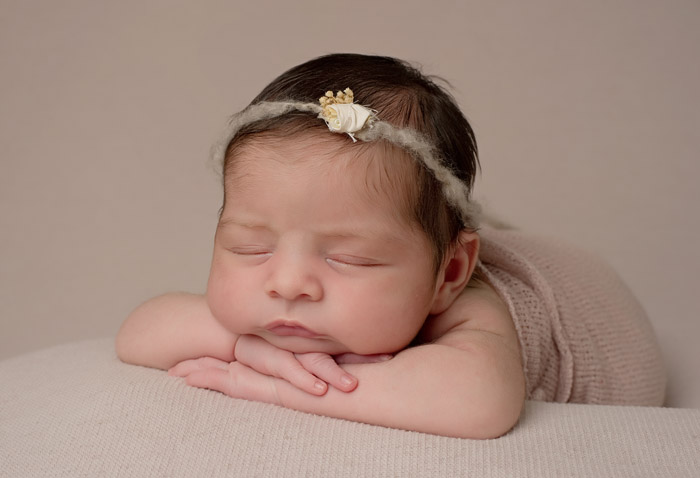 sweet baby girl newborn portrait