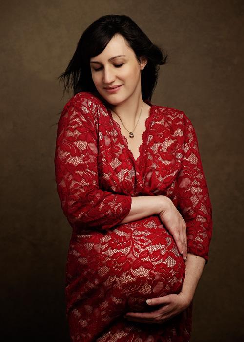 fine art maternity portrait